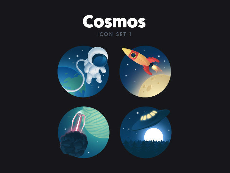 Free Cosmos Icon Set 1