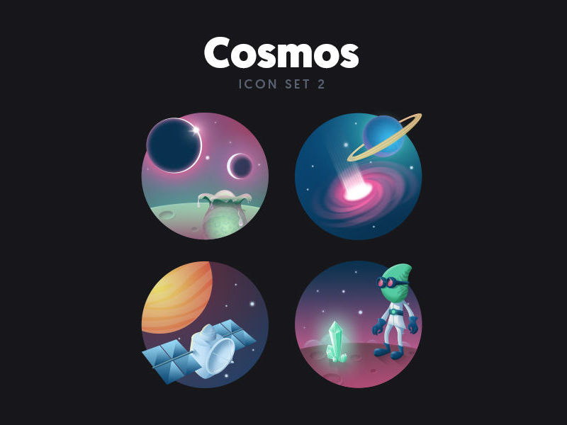 Free Cosmos Icon Set 2