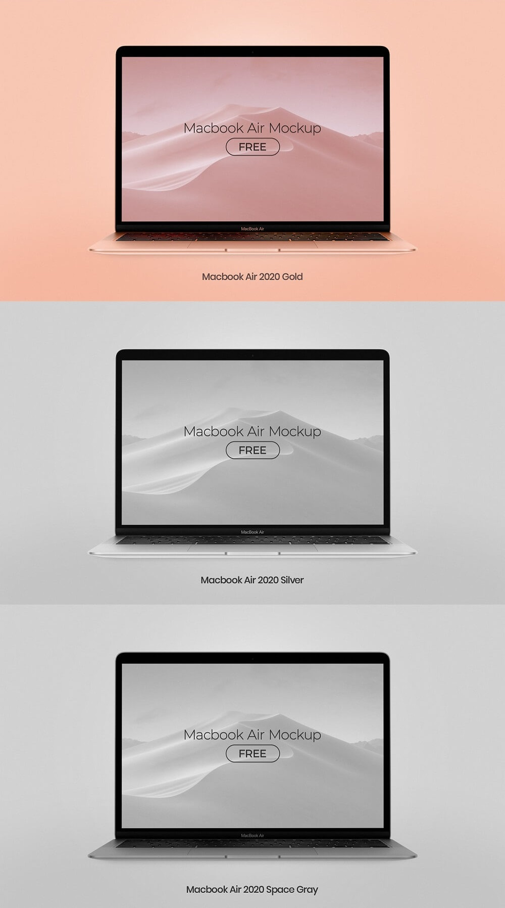 Free MacBook Air 2020 PSD Mockup