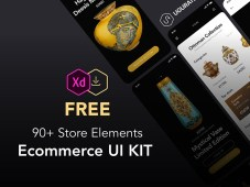 Free 90+ Store Elements & eCommerce UI Kit for Adobe XD
