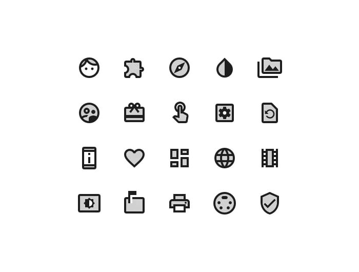 Material Icons Library Freebie Two Tone Style Preview