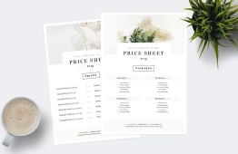 Free Price Sheet Template