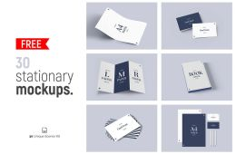 30 Free Stationery Mockups Featured