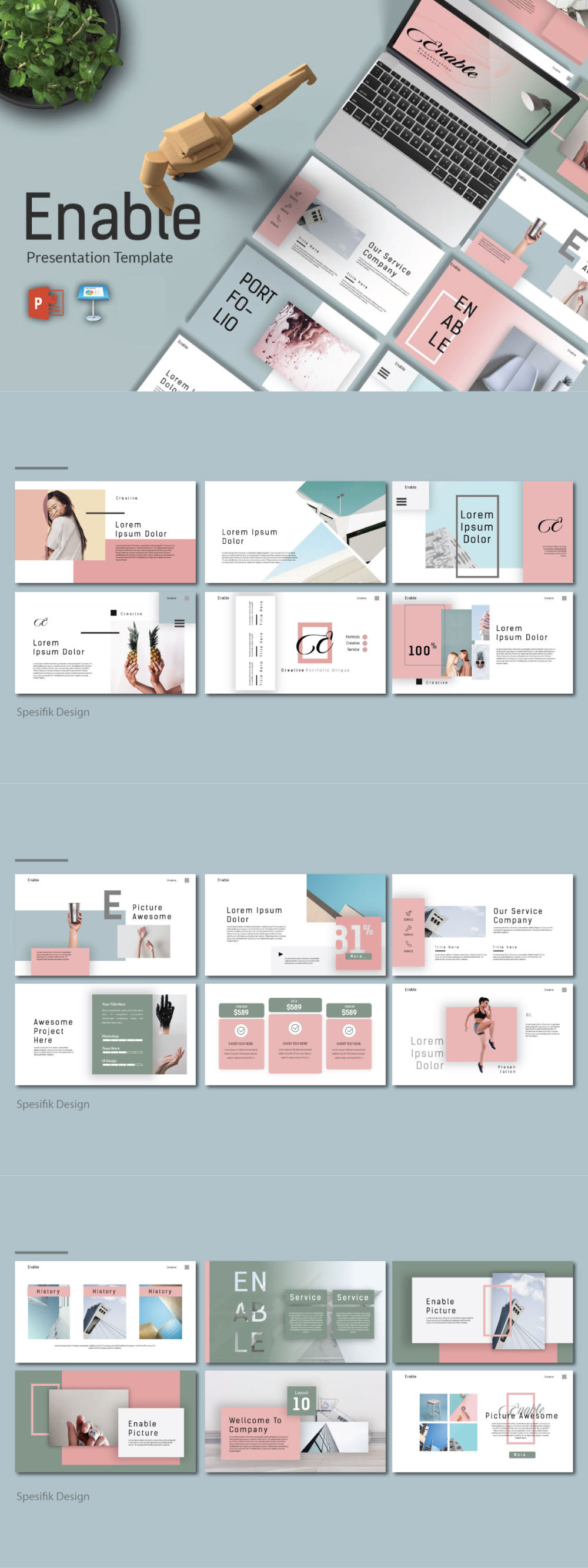 Enable - Modern Presentation Template full preview