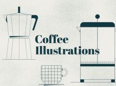 Free 10 Outlined Coffee Illustration