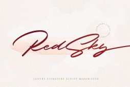 Free RedSky Signature Font