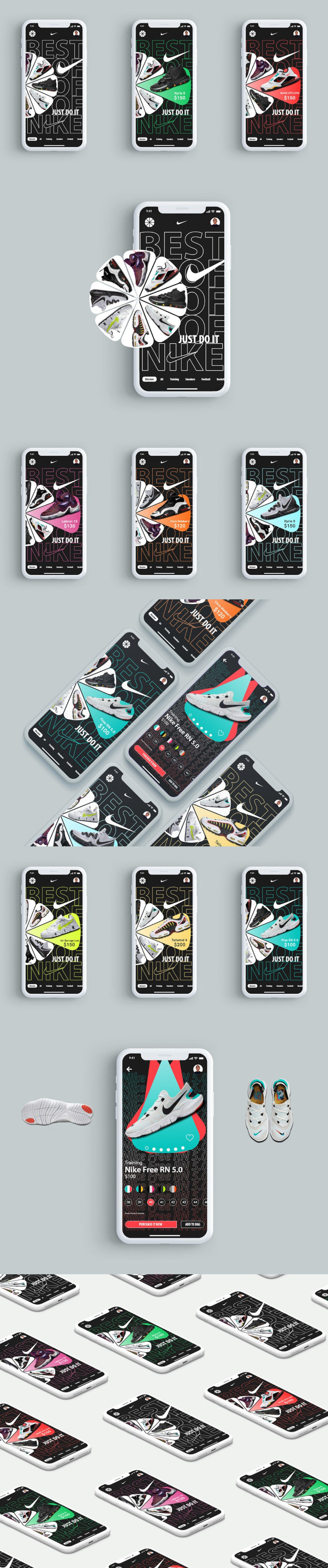 Nike Brand UI/UX Mobile Template preview