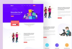 Free Drop Education Website Template (PSD)