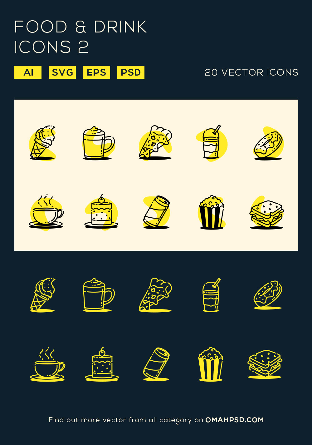 Free Food and Drink Icons Vol. 2 Preview