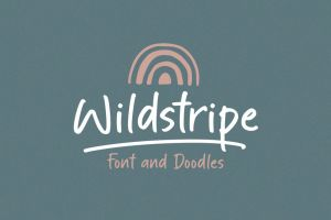 Wildstripe | Font & Doodles (Free for personal use)