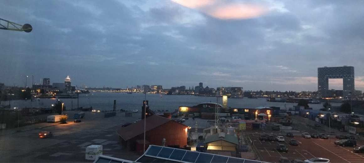 View over NDSM Wharf from the Doubletree by Hilton NDSM Wharf