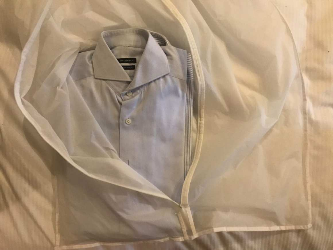 Wrinkle free shirt: packing 2-5 shirts