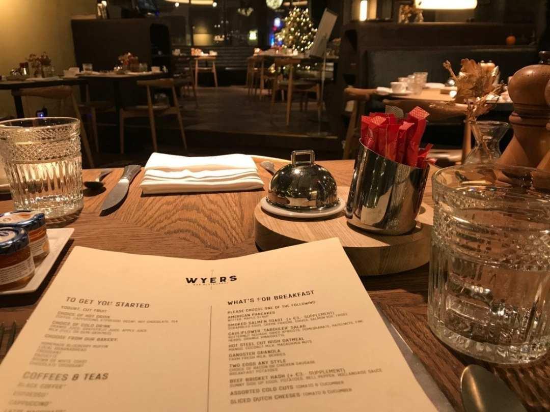 Breakfast a la carte at Wyers in Kimpton DeWitt Amsterdam