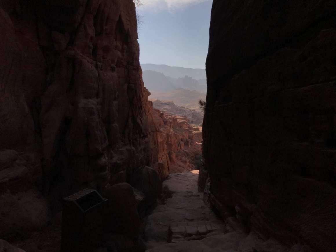 Walking through Petra in Jordan