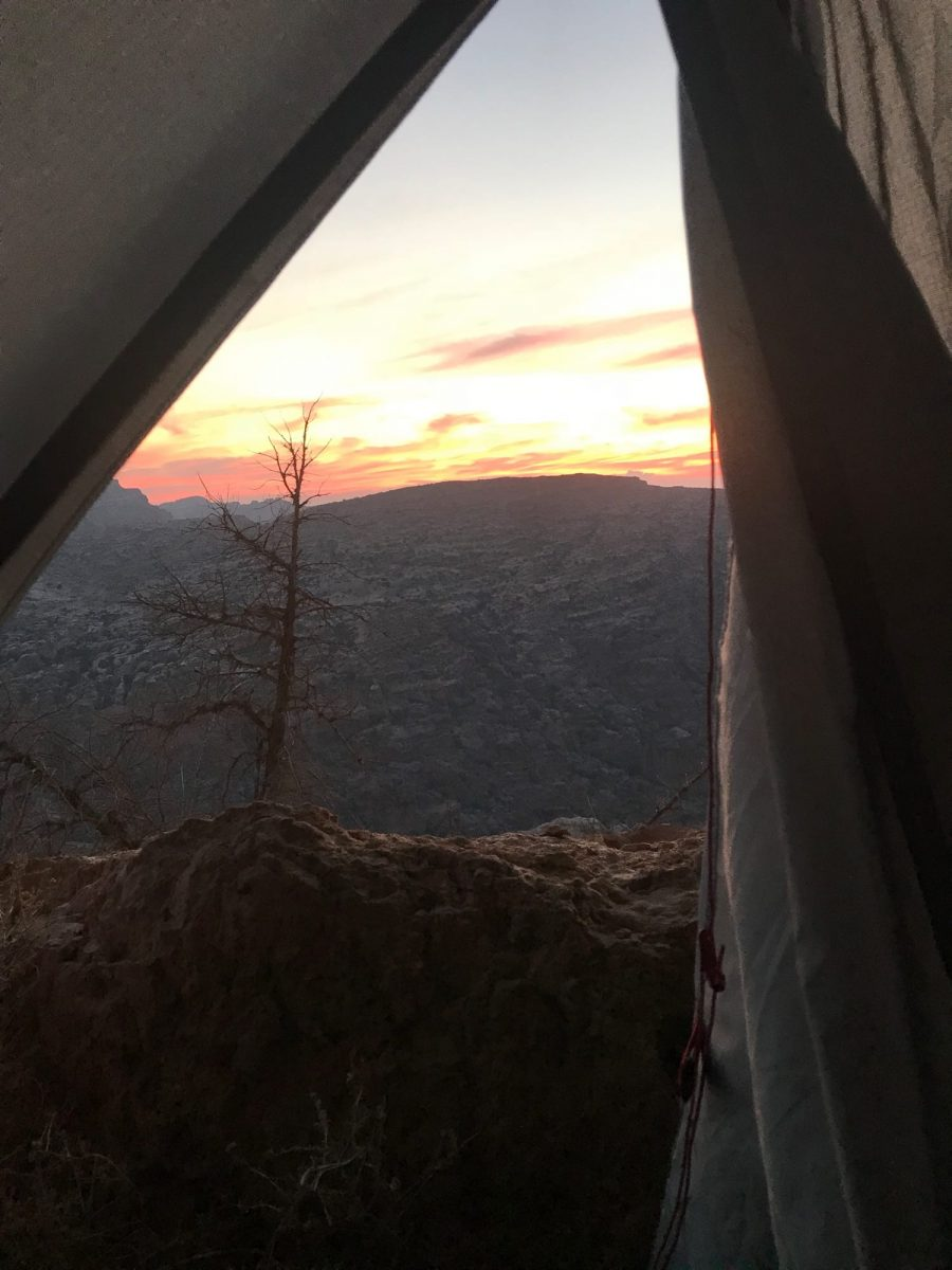 Sunset from my tent