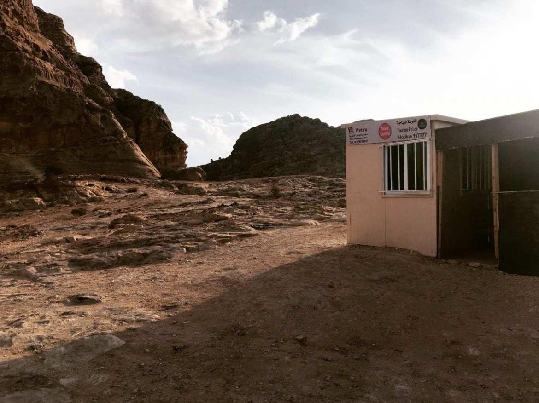 Jordan Trail - security post at Petra.