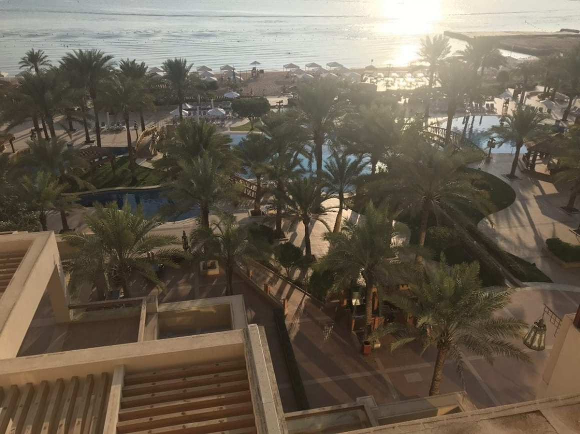 View from my window at the 5th floor at the InterContinental Aqaba (Resort Aqaba)