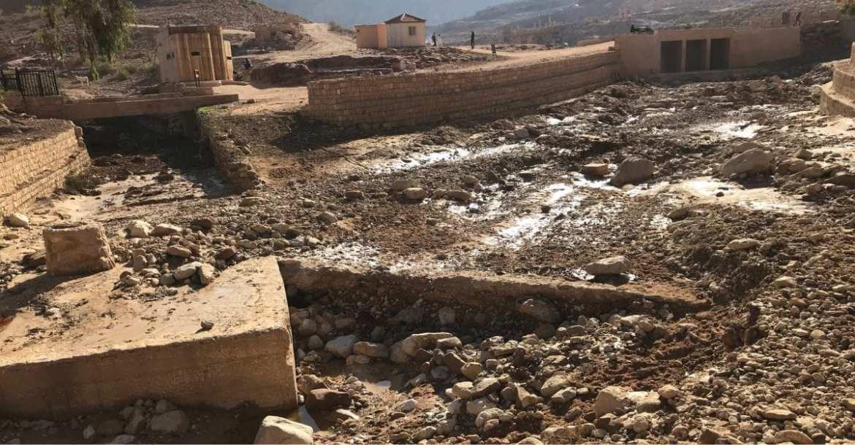 Jordan Trail - damage in Petra