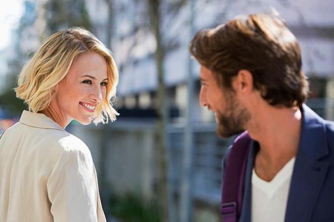 소녀 웃는 남자 친구