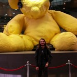 A very strange giant bear in the Doha airport.