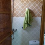 The bathroom - a single room with a shower and a toilet. Very efficient!
