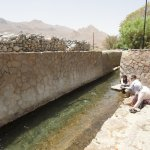 The falaj - the Omani irrigation system that they are rightfully very proud of.