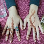 The girls in our group did Henna with their conversation partners while we were playing sports. They had sports night the following day.