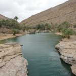 The pool at the end of Wadi Bani Khalid