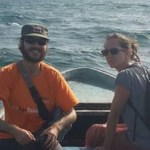 Sonja and I on Hilal's boat