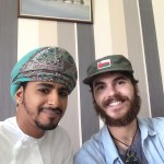 Me with Ahmed, a teacher at the institute