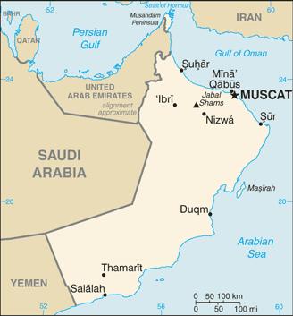Omán térkép