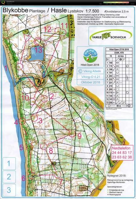 U Of O Maps : Træningstur, August, Orienteering, Janne, Brunstedt