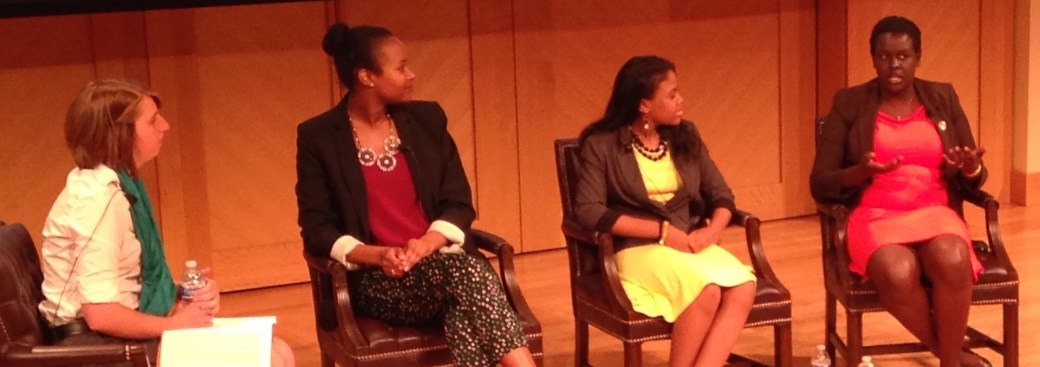 Atima Omara on a panel for Young Women's Political Leadership