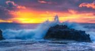 Sunrise taken at Sandy Beach, Hawaii