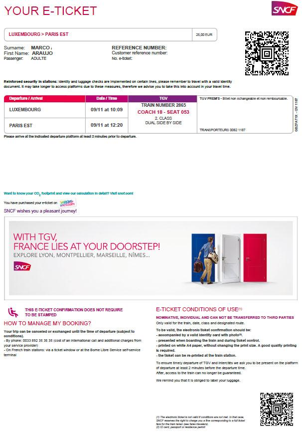 PASSAGEM DE TREM LUX PARIS