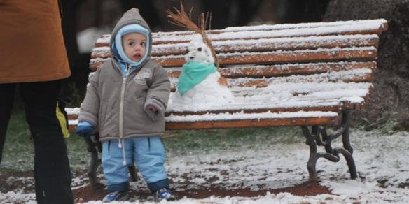 La nieve cubrió a M