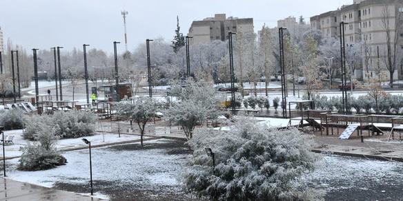 La nieve cubrió a Mend