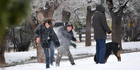 La nieve cubrió a Mendoz1