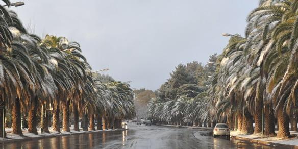 La nieve cubrió a Mendoza1