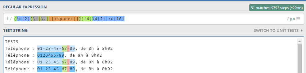 Regular Expressions for Phone Numbers OmarFPG