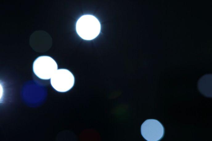 algunas luces difusas