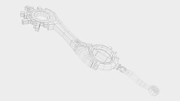 Wire low poly Keyblade