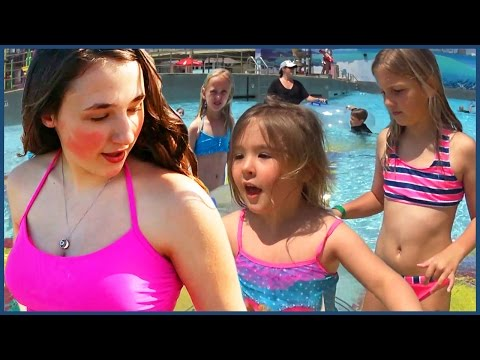 Funny kids swimming prank