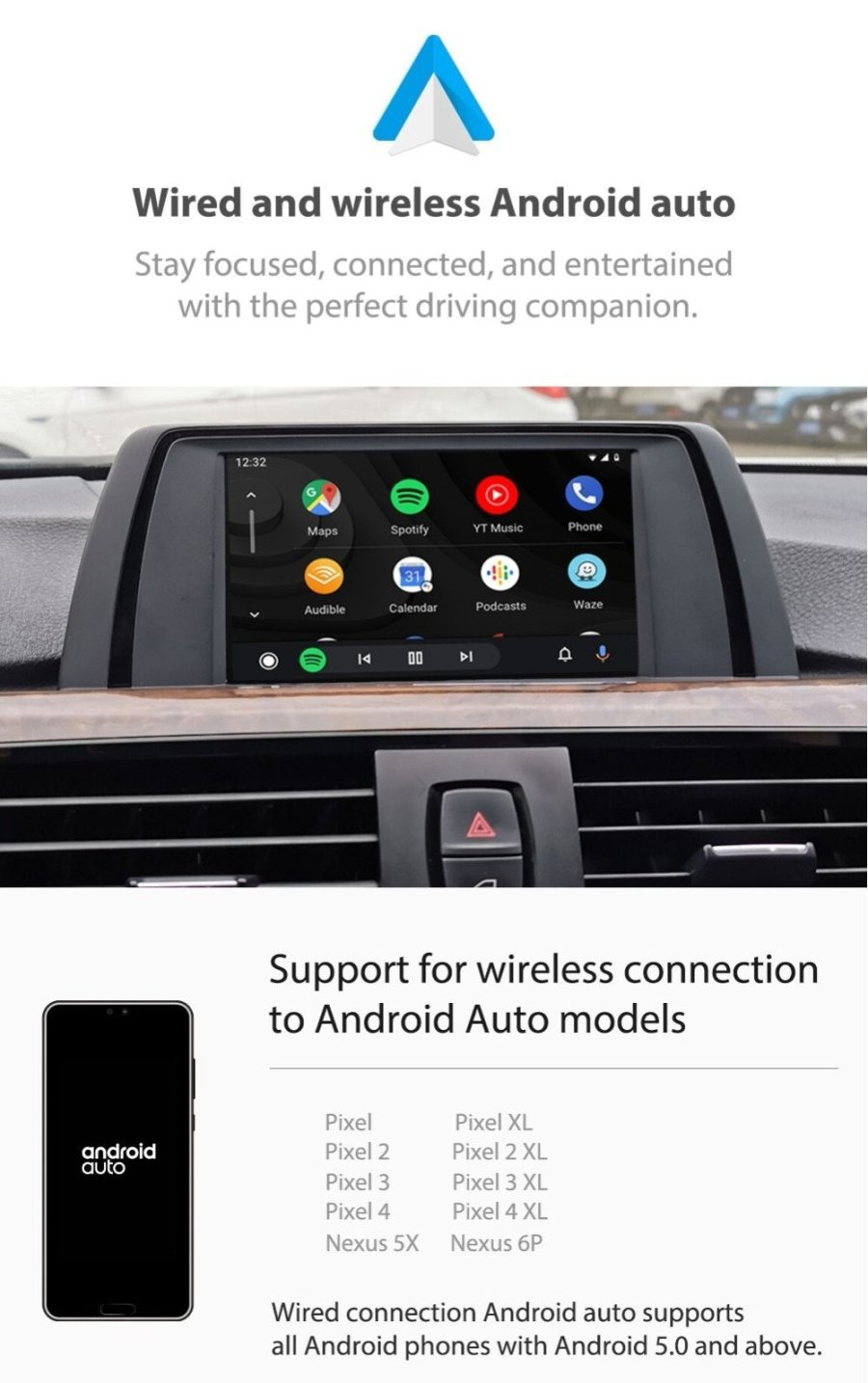 Auto Retrofit - BMW NBT (CIC-HIGH) iDrive Apple CarPlay & Android Auto Retrofit Kit (Wireless)