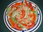 Putenstreifen-auf-Blattsalat