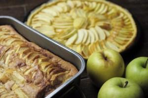 gebackener Obst Brot Pudding