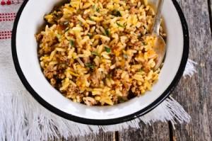 gebratener Reis mit Hackfleisch