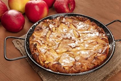 Apfelkuchen aus der Pfanne