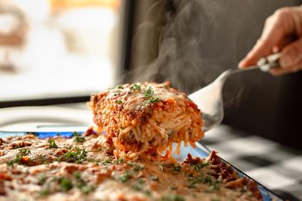gebackene Spaghetti