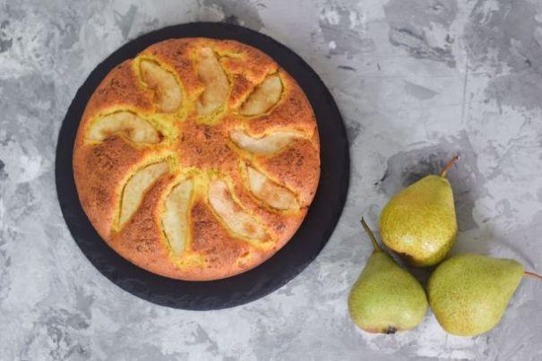 Hausgemachter Birnenkuchen